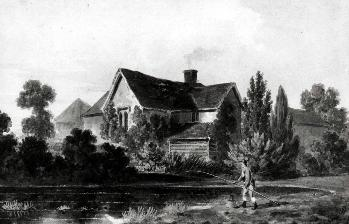 Potsgrove Manor in 1813 by George Sheppard [Z102-57]